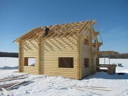 строительства дома зимой